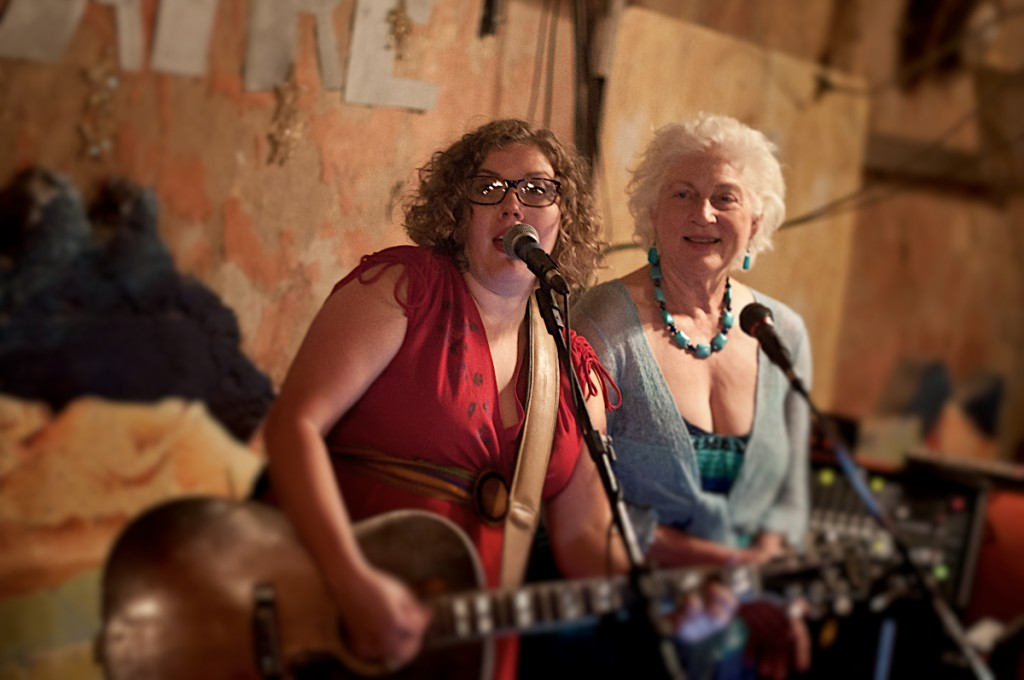 bonnie and marti whitmore at the starlight in terlingua