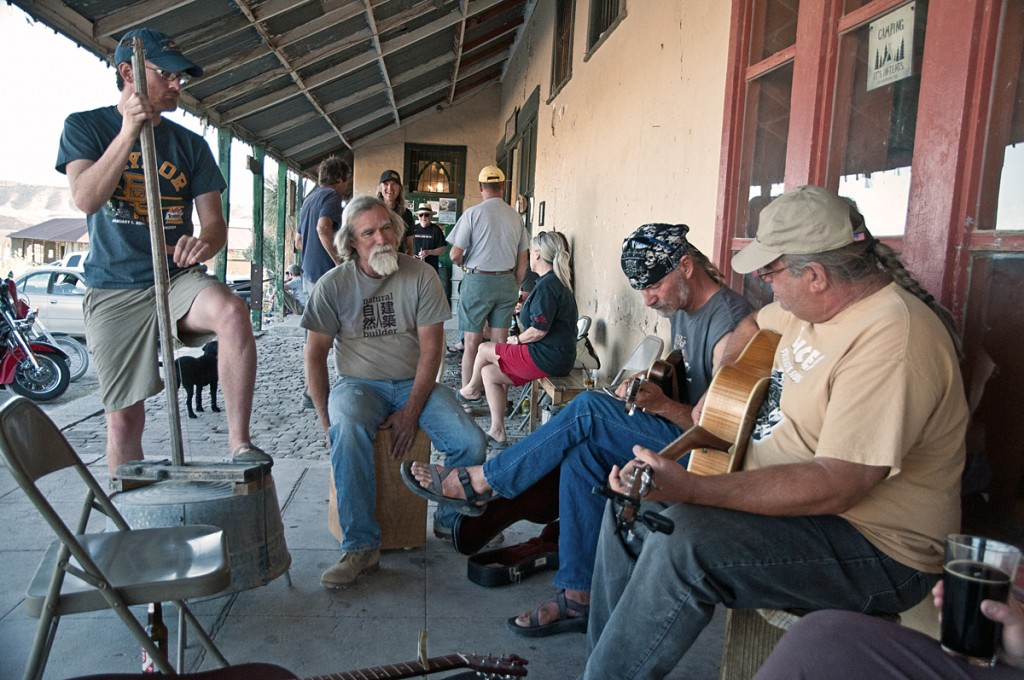 music on the porch in terlingua