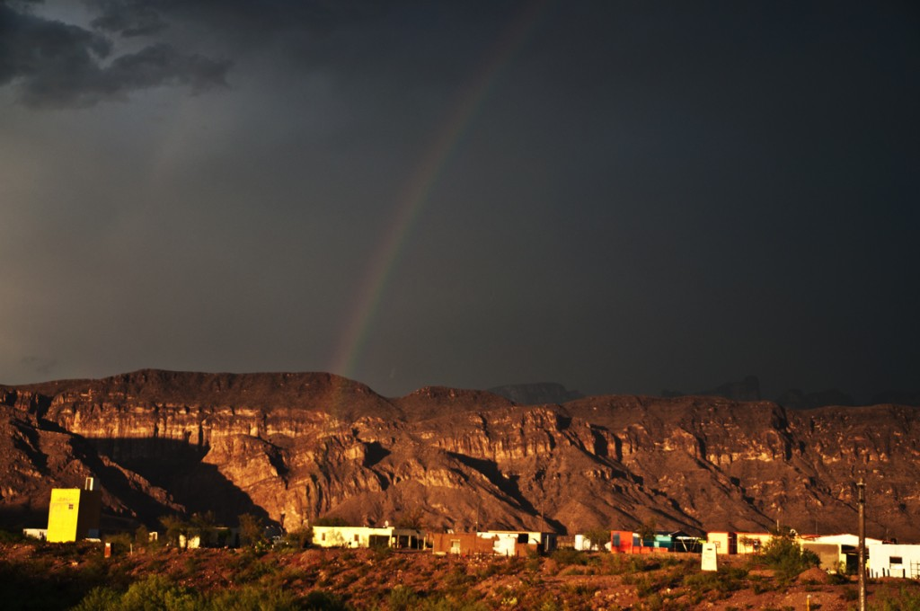 rainbow over Boquillas