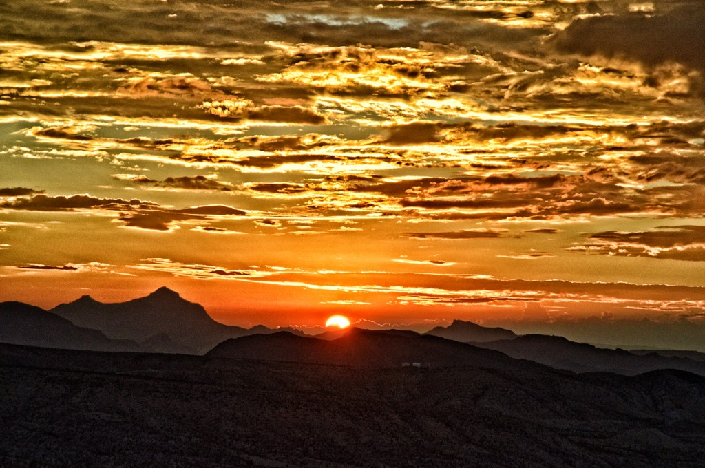Sunrise over Terlingua