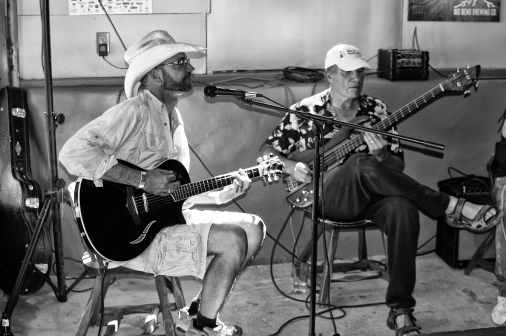 Trevor and Ted Arbogast at the Boathouse in Terlingua