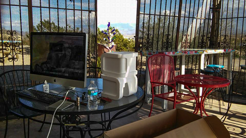 my office at La Posada Milagro