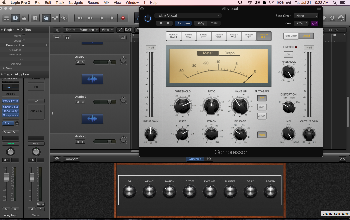 Logic - compressor - Moog controls.